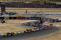 2012 Sonoma June NCSC race marcos ambrose leads start