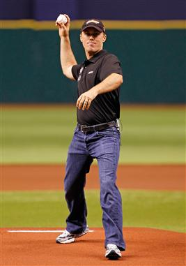 Kevin Harvick First Pitch Tampa Bay Rays