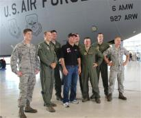 Harvick at MacDill 4