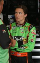 2012 Chicagoland Danica Patrick In Garage After Practice