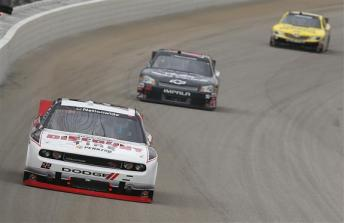2012 Chicagoland Nationwide Parker Kligerman Races Toward Front Of Field