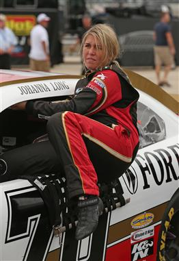 2012 Chicagoland Nationwide Qualifying Johanna Long Climbs Into Car