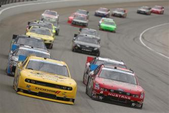 2012 Chicagoland Nationwide Ricky Stenhouse Jr Sam Hornish Jr Lead The Field