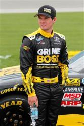 2012 Chicagoland Ryan Truex Stands On The Grid During Qualifying