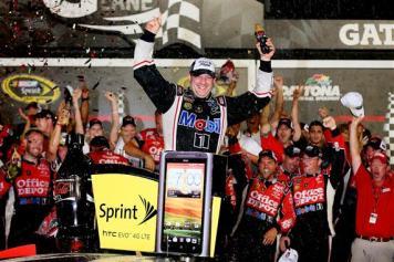 2012 Daytona July NASCAR Sprint Cup Series Race Tony Stewart Victory Lane