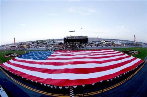 2012 Daytona July NASCAR Sprint Cup Series Race American Flag