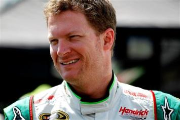 2012 Bristol2 Dale Earnhardt Jr. Smiles During Practice