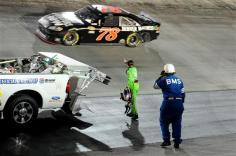 2012 Bristol2 Danica Patrick Wags Finger At Regan Smith After Incident