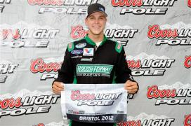 2012 Bristol2 Trevor Bayne With Coors Light Pole Award