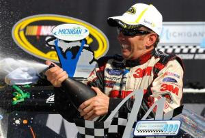 2012 Michigan Aug NSCS Greg Biffle champagne