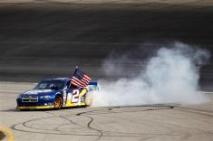 2012 Chase Race #1 from Chicagoland Brad Keselowski burn out