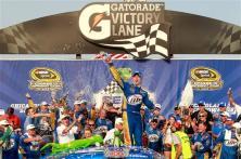 2012 Chase Race #1 from Chicagoland Brad Keselowski celebrates
