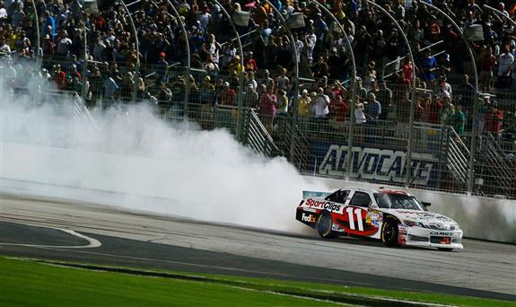 denny-hamlin-burnout-atlanta-2012