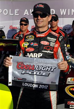 jeff gordon new hampshire pole