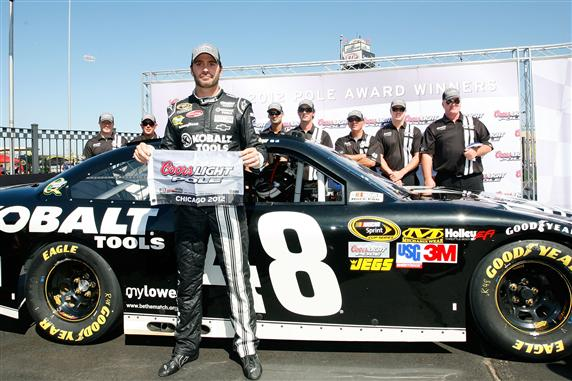 jimmie chicago pole 2012