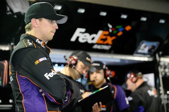 2012 Martinsville2 Denny Hamlin In Garage