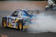 2012 NASCAR Victory Lap Las Vegas Burn Outs - Brad Keselowski