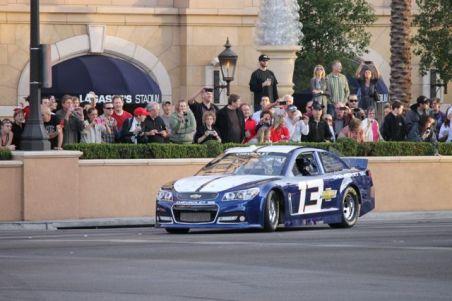 2012 NASCAR Victory Lap Las Vegas Burn Outs - Chevy SS