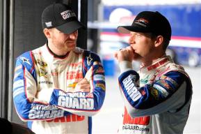 2012 CMS Testing Dale Earnhardt Jr. Regan Smith