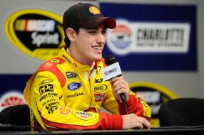 2012 CMS Testing Joey Logano In Media Center