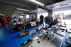2012 CMS Testing Kevin Harvick In Garage