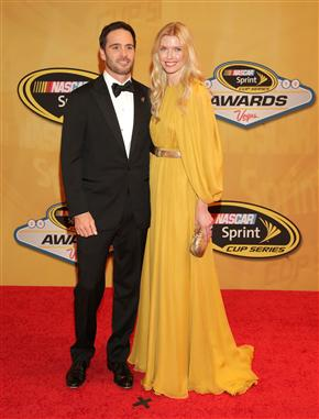 2012 Vegas Red Carpet Jimmie Johnson With Wife