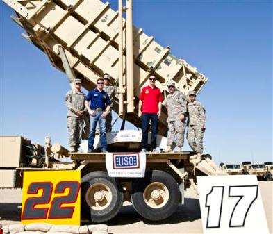 Joey Logano and Ricky Stenhouse Jr. USO Visit Kuwait 17 20