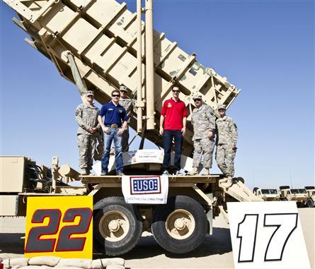 Joey Logano and Ricky Stenhouse Jr. USO Visit Kuwait 17 20