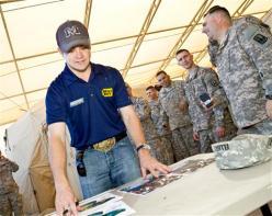 Ricky Stenhouse Jr. autographs USO Visit Kuwait