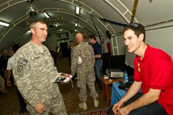 Joey Logano and Ricky Stenhouse Jr. USO Visit Kuwait