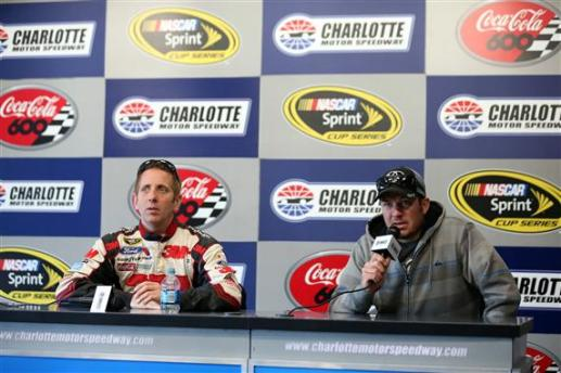 Charlotte 2013 Gen6 NASCAR Test Greg Biffle Martin Truex