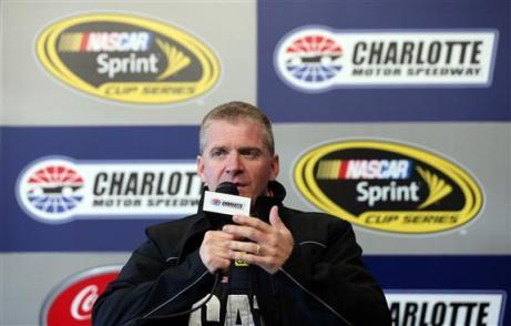 Charlotte 2013 Gen6 NASCAR Test Jeff Burton