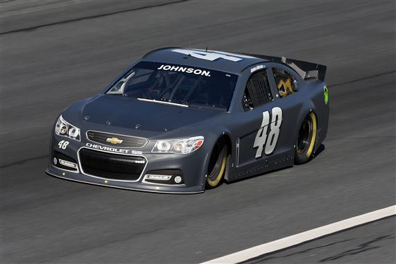 Charlotte 2013 Gen6 NASCAR Test Jimmie Johnson 48 Chevrolet SS