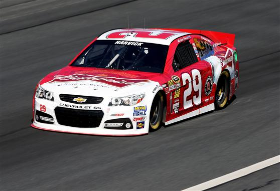 2013 CMS Test Kevin Harvick On Track