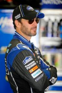 2013 Daytona Preseason Thunder Day 2 Jimmie Johnson in Garage