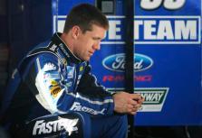 2013 Daytona Preseason Thunder Day 3 Carl Edwards In Garage