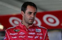 2013 Daytona Preseason Thunder Day 3 Juan Pablo Montoya in Garage