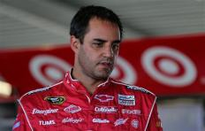2013 Daytona Preseason Thunder Day 3 Juan Pablo Montoya in Garage