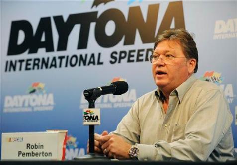 2013 Daytona Preseason Thunder Day 3 Robin Pemberton In Media Center