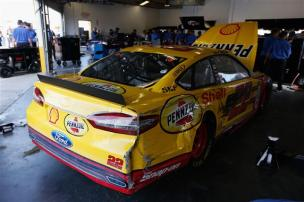 2013 Daytona Preseason Thunder Joey Logano After Incident