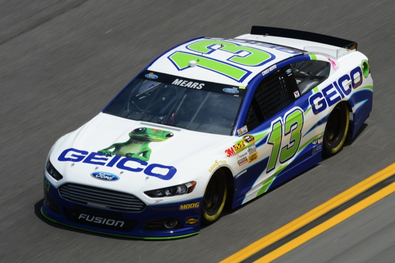 daytona 500 practice casey mears 13 ford fusion the. Black Bedroom Furniture Sets. Home Design Ideas