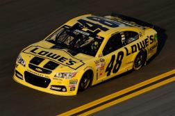 Jimmie Johnson Sprint Unlimited Yellow at Daytona