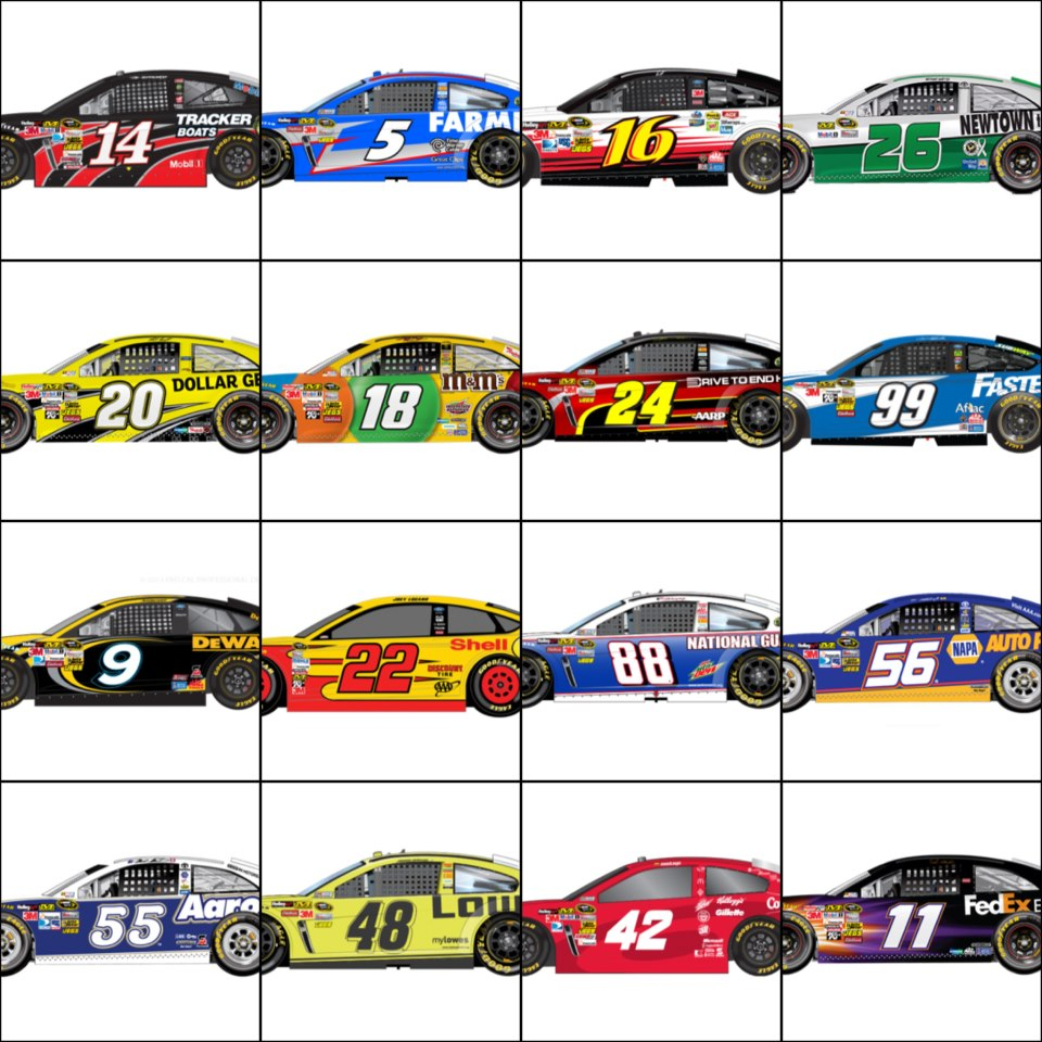Paint Schemes: Sprint Unlimited At Daytona Gen-6 NASCAR Paint Schemes
