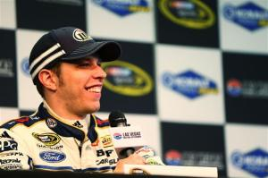 Brad-Keselowski-Las-Vegas-NASCAR-rain-2013-Friday