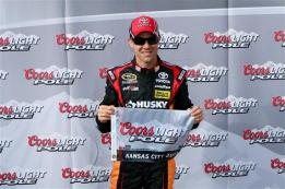 2013 kansas1 cup qualifying matt kenseth pole award