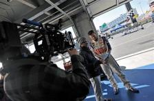 dale-earnhardt-jr-commercial-ad-reviewing script with director
