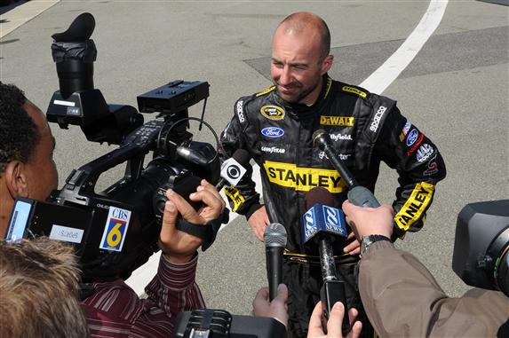 rir testing marcos ambrose talks with media