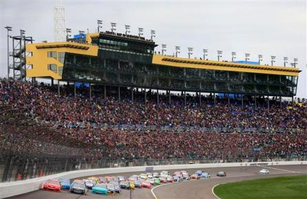 stp-400-nascar-green-flag-start-kansas-fans-2013