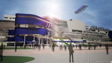 daytona-rising-renovation-nascar-main entrance gate