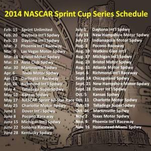 2014 NASCAR Sprint Cup Schedule
